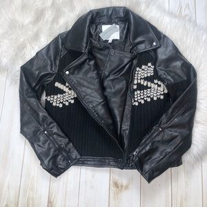 Anthropologie Jackets & Coats - Ett:twa Vegan Leather Sweater Moto Jacket
